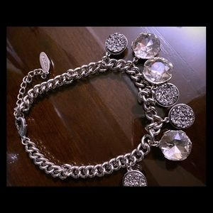 Glam with crystal and silver baubles adjustable
